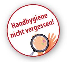 Aufkleber Handhygiene