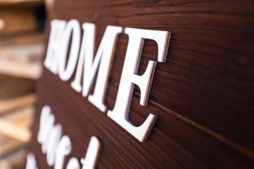 Holztafel Home sweet home