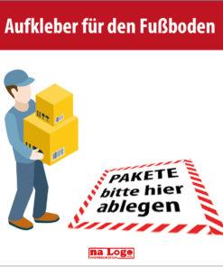 Aufkleber Pakete ablegen